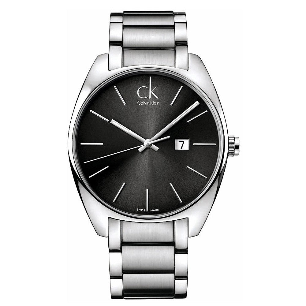 Calvin-Klein Men's Exchange Grey Dial Stainless Steel Watch