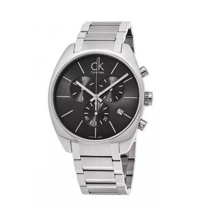 Calvin-Klein Men's Exchange Grey Dial Stainless Steel Chronograph Watch