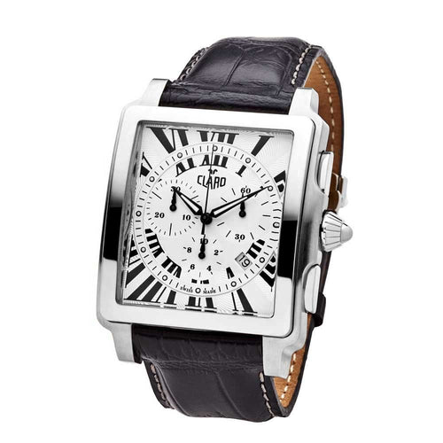 Claro Men's Ascender Silver Quartz Chronograph Watch