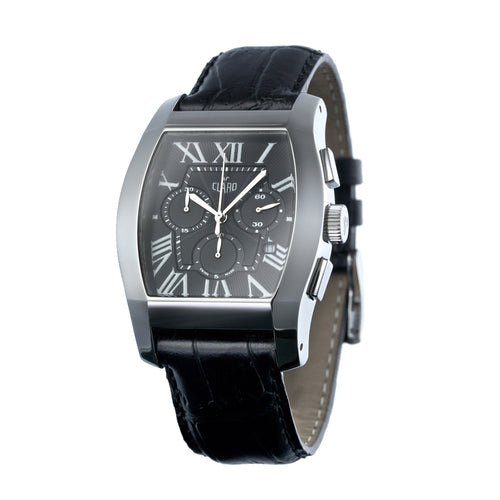 Claro Men's Classic Black Quartz Chronograph Watch