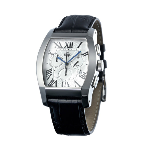 Claro Men's Classic Silver Quartz Chronograph Watch