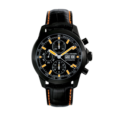 MGJVB Men's Sport II Black Automatic Chronograph Watch