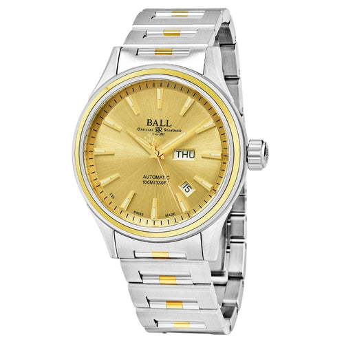 Ball Men's Fireman Gold Dial Swiss Automatic Watch