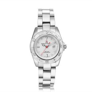Swiss-Mountaineer Women's Abeni Flue White Dial Quartz Watch
