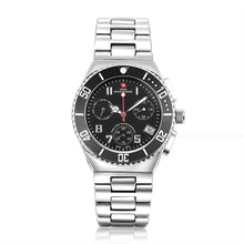 Load image into Gallery viewer, Swiss-Mountaineer Men's Pointe Sud de Moming Black Dial Chronograph Watch