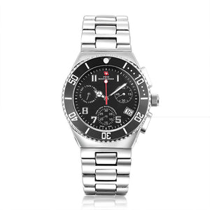 Swiss-Mountaineer Men's Pointe Sud de Moming Black Dial Chronograph Watch
