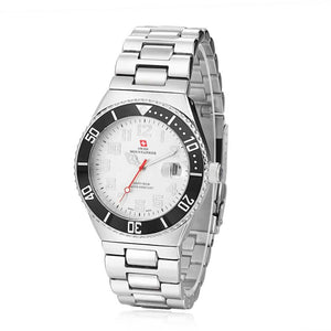 Swiss-Mountaineer Men's Pointe Sud de Moming White Dial Watch