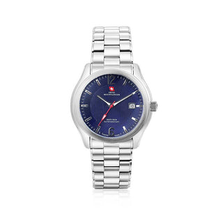 Swiss-Mountaineer Men's Gletscherhorn Blue Dial Quartz Watch