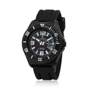 Swiss-Mountaineer Men's Jakobshorn Black Dial Quartz Watch