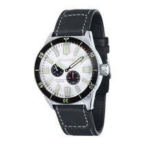 Load image into Gallery viewer, Spinnaker Hass Automatic Silver White Dial Leather Strap Men's Watch