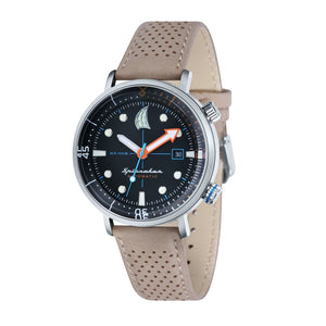 Spinnaker Tavolara Automatic Black Dial Leather Strap and Nato Strap Men's Watch