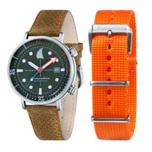 Load image into Gallery viewer, Spinnaker Tavolara Automatic Green Dial Leather Strap and Nato Strap Men's Watch