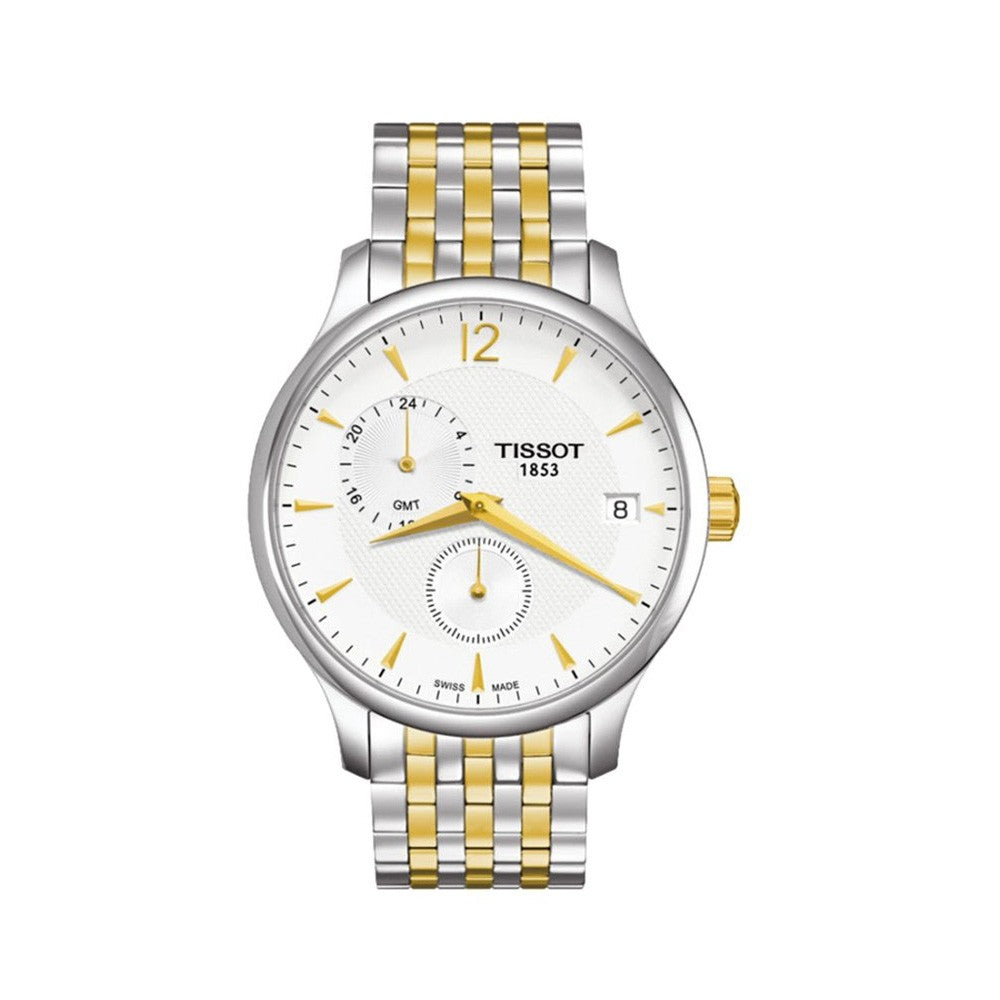 Tissot Men's Tradition Silver Dial Two-tone Watch