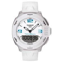 Load image into Gallery viewer, Tissot Unisex T-Race Touch Analog Digital White Dial White Rubber Watch