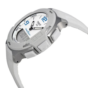 Tissot Unisex T-Race Touch Analog Digital White Dial White Rubber Watch