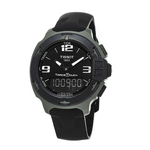 Tissot Unisex T-Race Touch Analog Digital Black Dial Black Rubber Watch