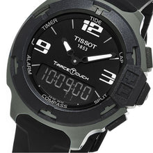 Load image into Gallery viewer, Tissot Unisex T-Race Touch Analog Digital Black Dial Black Rubber Watch