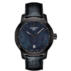 Tissot Unisex Quickster Black Mother of Pearl Dial Watch
