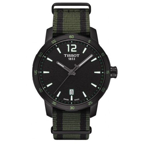 Tissot Men's T-Sport Quickster Nato Black Dial Watch