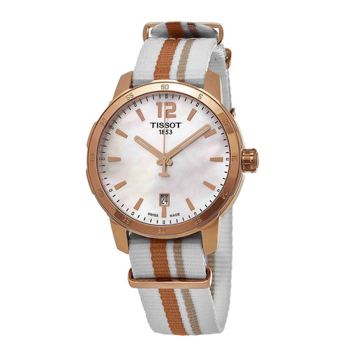 Tissot Women's T-Sport Quickster Nato Mother-of-Pearl Dial Watch