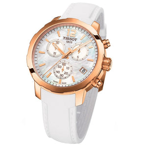 Tissot Women's Dress Sport Chronograph Mother of Pearl Dial Watch