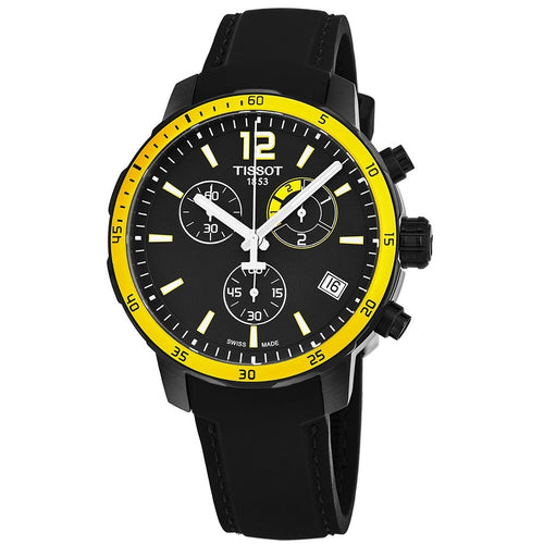 Tissot Men's Quickster Black Silicone Watch