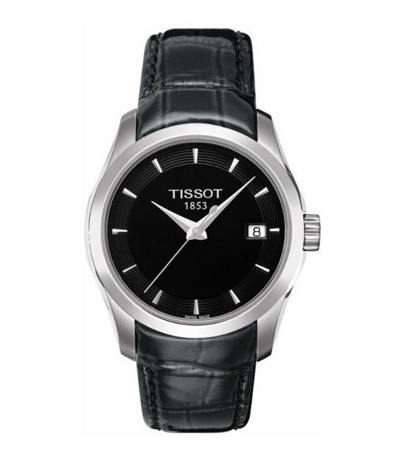 Tissot Couturier Black Dial Ladies Watch