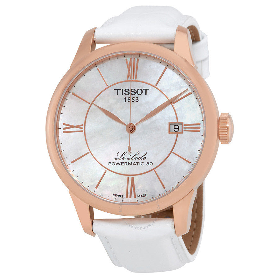 Tissot T-Classic Automatic White Mother of Pearl Ladies Watch