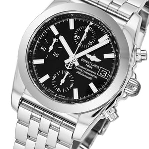 Breitling Men's Chronomat 38 Black Dial Chronograph Swiss Automatic Watch