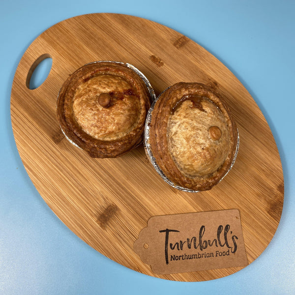 x2 Individual Pork Pies with Caramelised Onion - Turnbull's Northumbrian Food