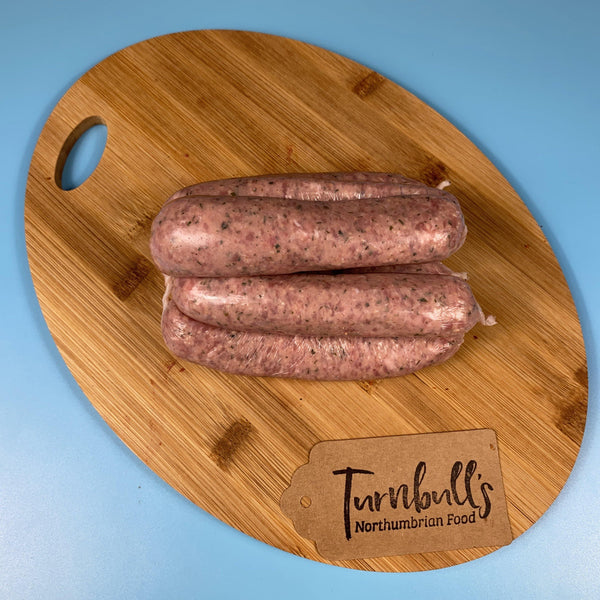 Traditional Thick Pork Sausage - Turnbull's Northumbrian Food
