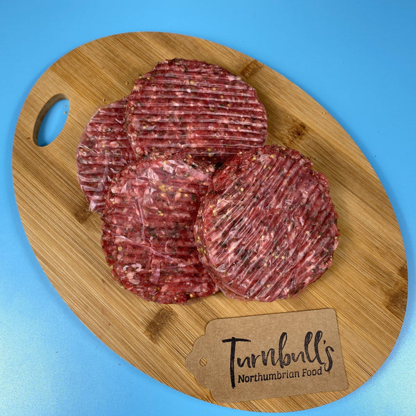 Four Beef Steak Burgers - Turnbull's Northumbrian Food