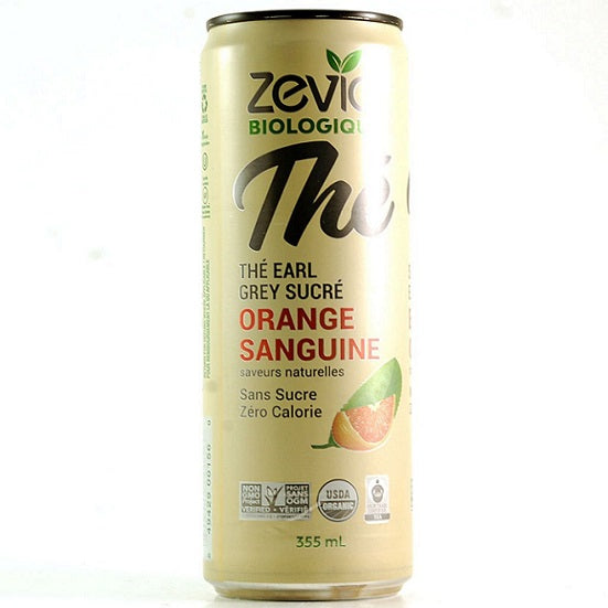 Zevia Thé earl grey orange sanguine (Tx) 355ml
