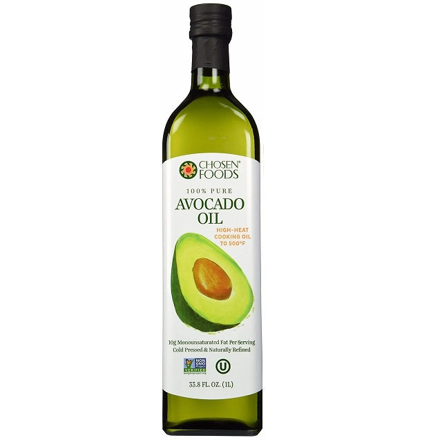 Chosen Food Huiles Huile d'avocat Pure 1L