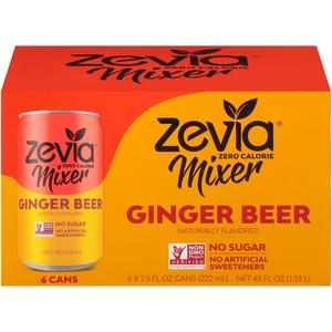 Zevia Allongeur 6-Pack Bière de Gingembre 6 x 222ml TX