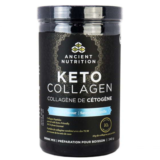 Ancient Nutrition Collagene Keto Vanille 340g TX