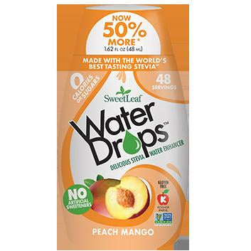SweetLeaf Water Drop Aromatisant pour eau Peche Mangue 48ml