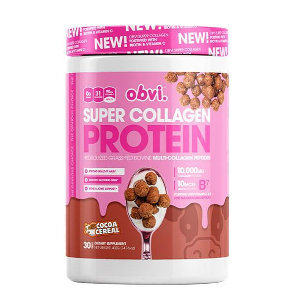 Obvi Super Collagene Proteine Cereale Cacao 390g TX