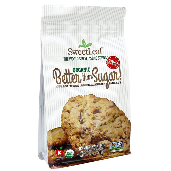 SweetLeaf Better Than Sugar Stevia et Erythritol Granulé 360g