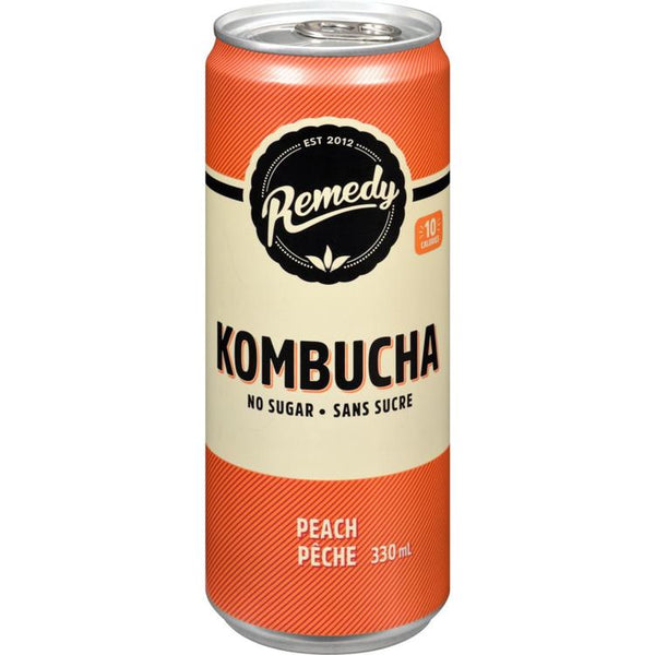 Remedy Kombucha Organic Pêche 4 x 330ml