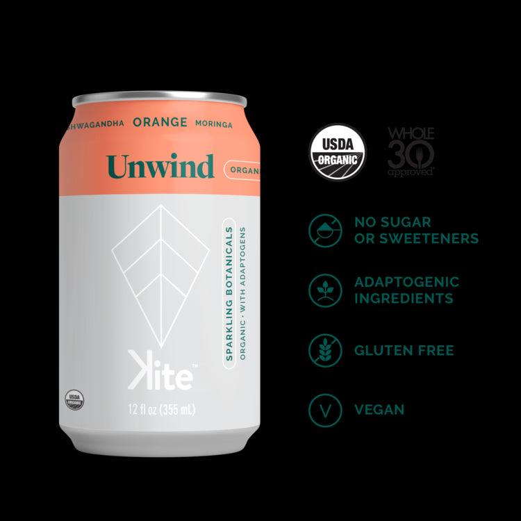 Kite Unwind (Ashwagandha Orange) 355ml TX