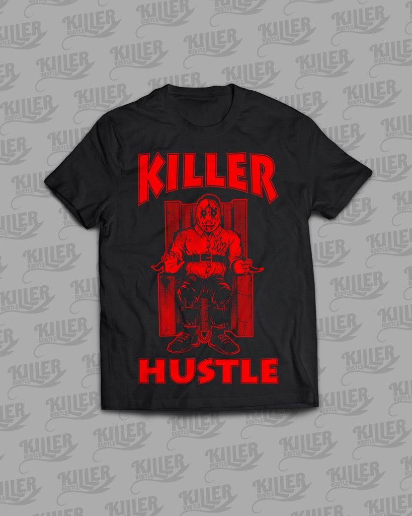 "Killer Hustle Inc.- Black Killer Hustle × Young Wicked ""Tha Row"" Limited Edition T-Shirt"