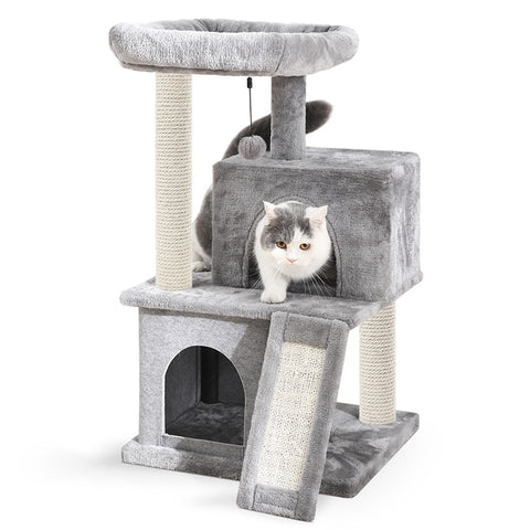 Arbre chat design gris