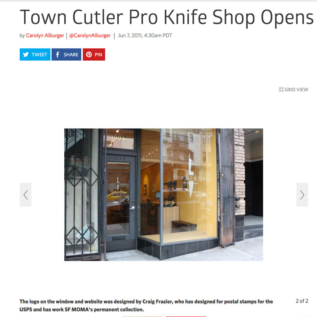 Eater SF - Town Cutler Pro Knife Shop Opens in Nob Hill