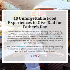 Food & Wine - 10 Unforgettable Food Experiences Father's Day