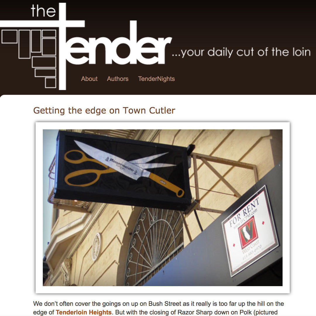 The Tender - Getting the edge on Town Cutler