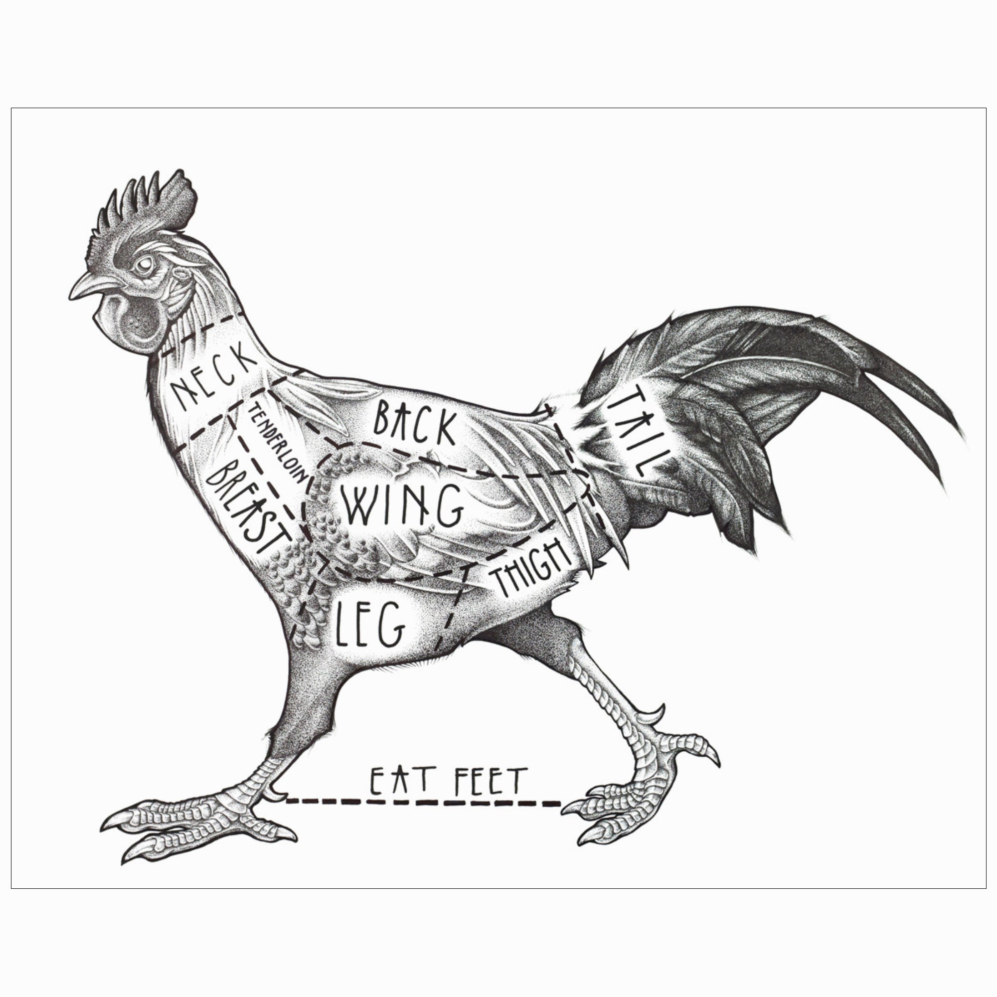 Town Cutler Rooster Poster by James Nagel - Town Cutler