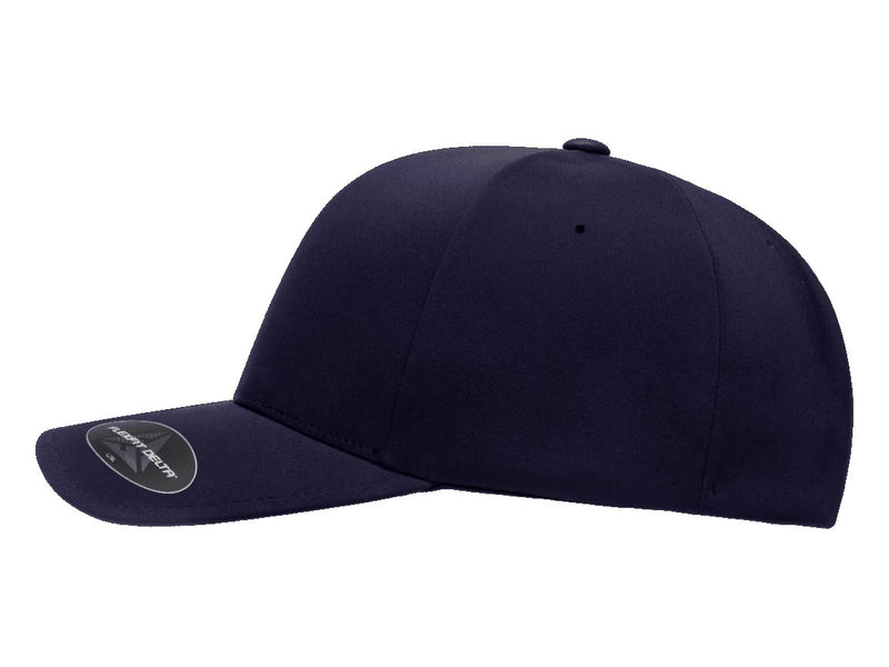 Flexfit 180 Delta Seamless Fitted Hat in Navy Blue