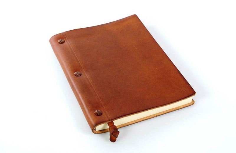 Personalized Tan Leather Journal