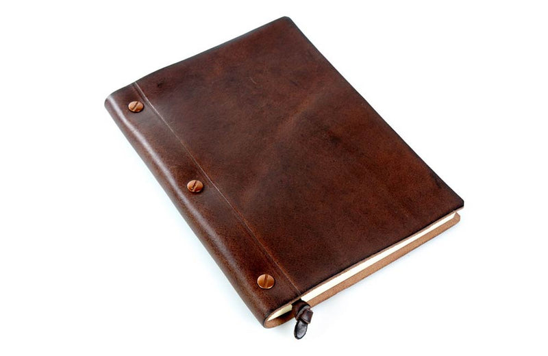 Personalized Brown Leather Journal